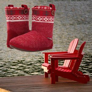 Foamtreads Women's Aish House Booties Slipper Warm